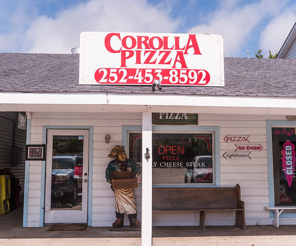 Corolla Pizza Outer Banks nc Storefront